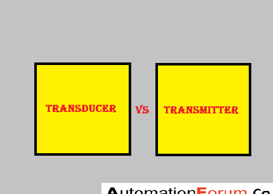 What are the differences between transducer and transmitter?
